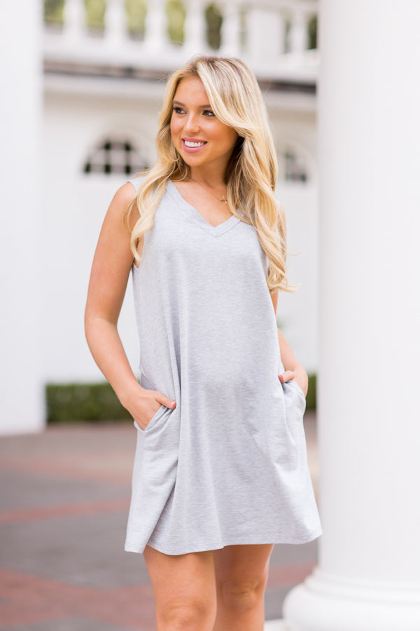 Game Set Match Dress - Heather Grey