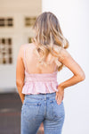 Sweetheart Crop Top - Light Pink