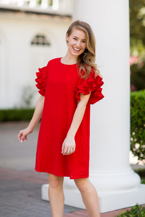 Catching Rays Dress- Red
