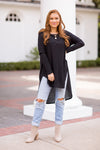 All Tucked In Tunic Top - Black