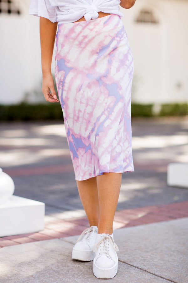In My Dreams Midi Skirt - Pink