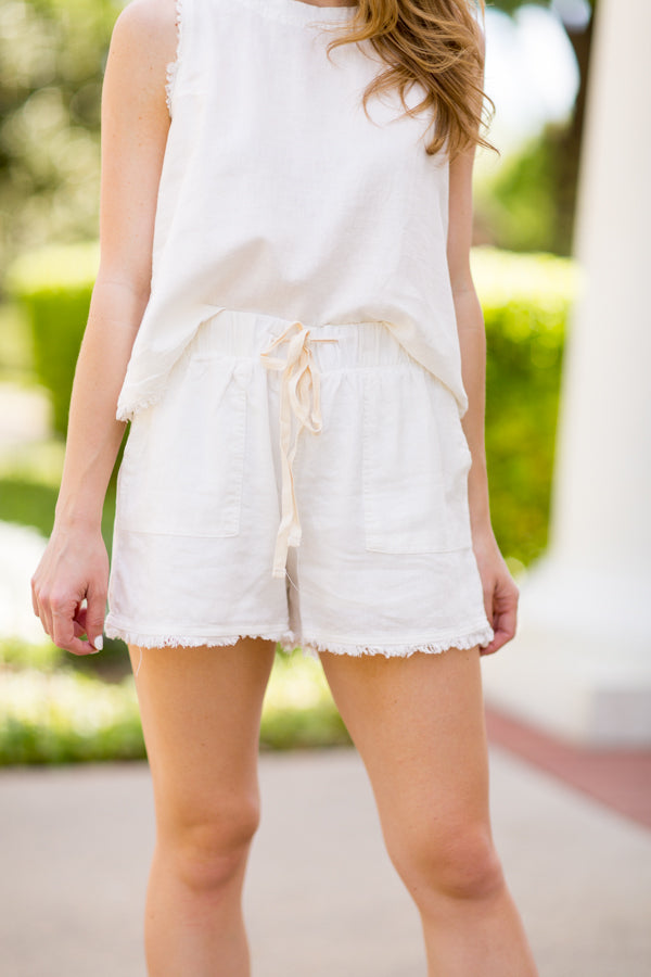 Carolina Beach Shorts - Off White