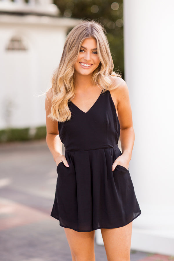 Ready For The Weekend Romper - Black