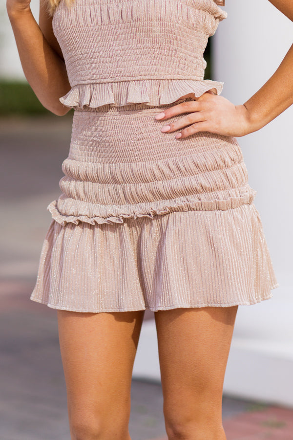 Golden Hour Skirt - Champagne