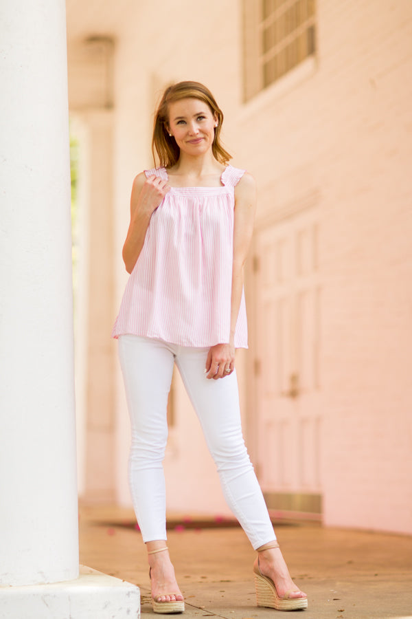 Walk On The Beach Top - Pink