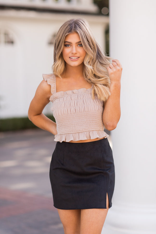 All Too Well Suede Skirt - Black