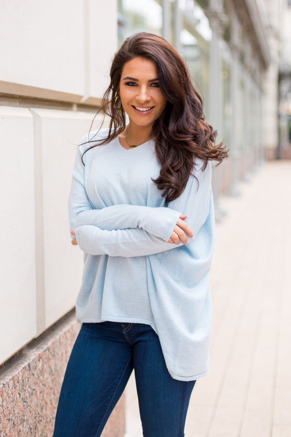 Cozy Clouds Sweater - Blue
