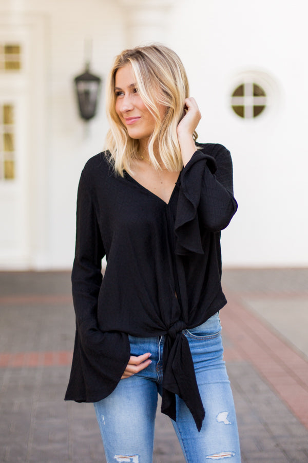 Southern Hippie Top- Black