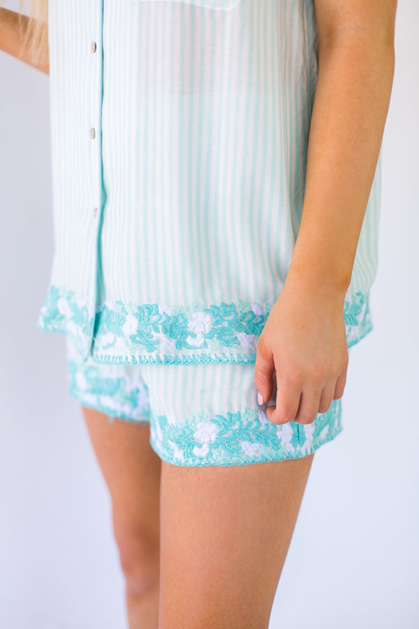 The Micaela Shorts- Mint