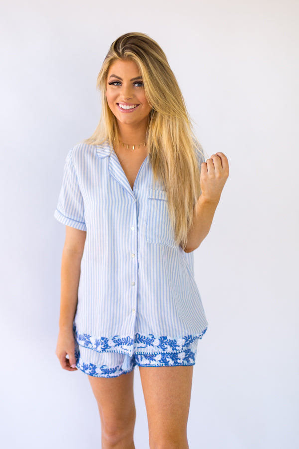The Micaela Shorts- Blue