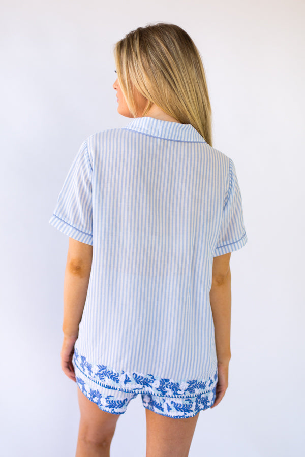 The Micaela Top- Blue