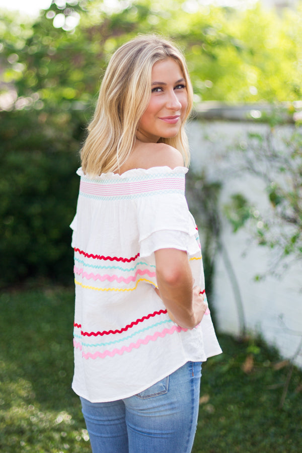 Candyland Top- White