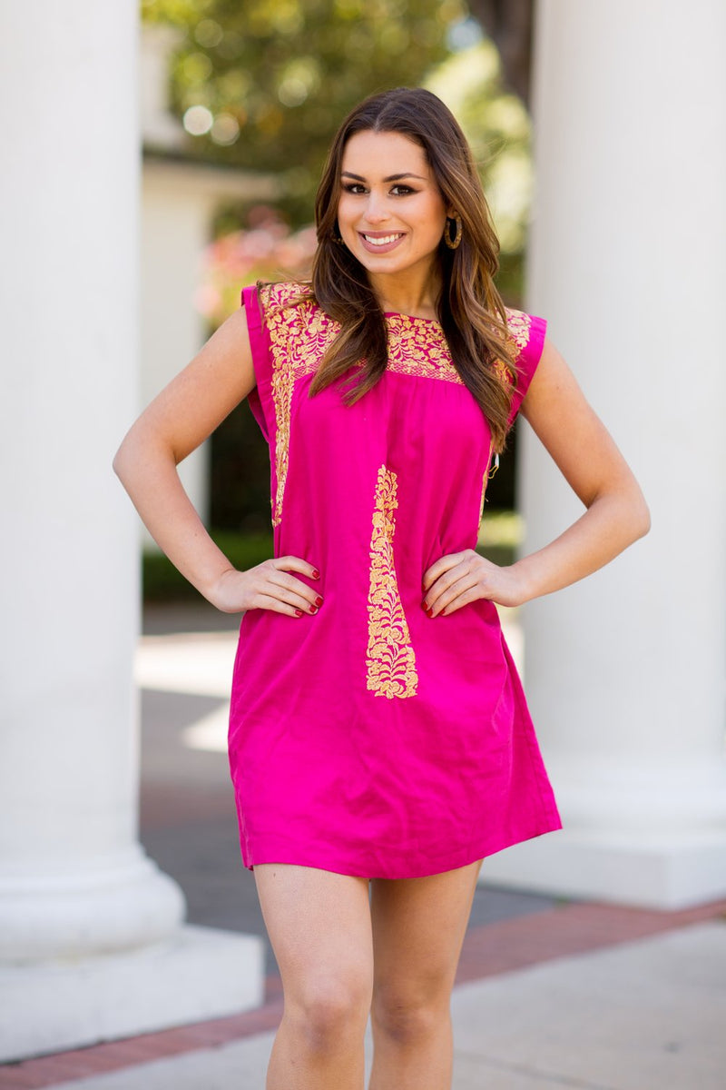 The Michelle Dress- Hot Pink