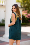 The Bella Dress- Hunter Green