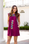 The Bridget Dress- Burgundy