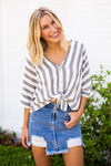 Grey Days Striped Top
