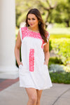 The Whitney Dress- Coral