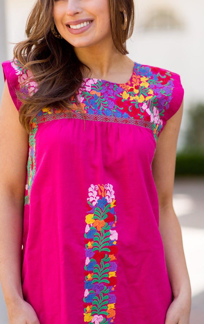 The Rosa Top- Hot Pink