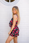 In The Rose Garden Romper- Black