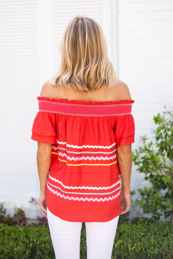 Candyland Top- Red