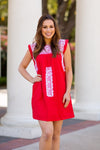 The Regina Dress- Red