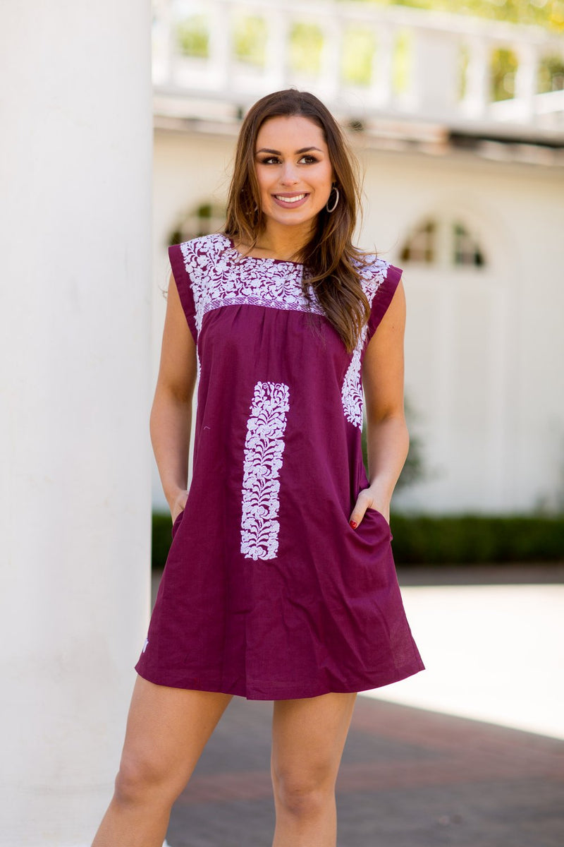 The Anita Dress- Burgundy