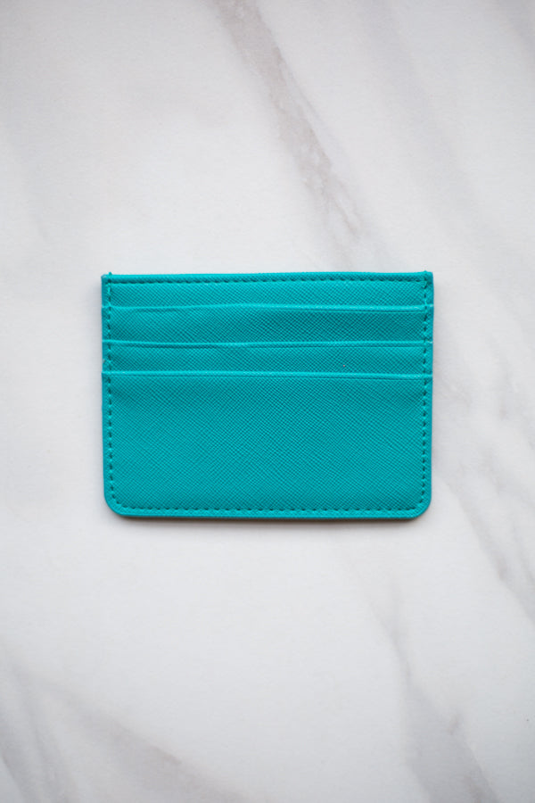 Four Fold Wallet- Turquoise