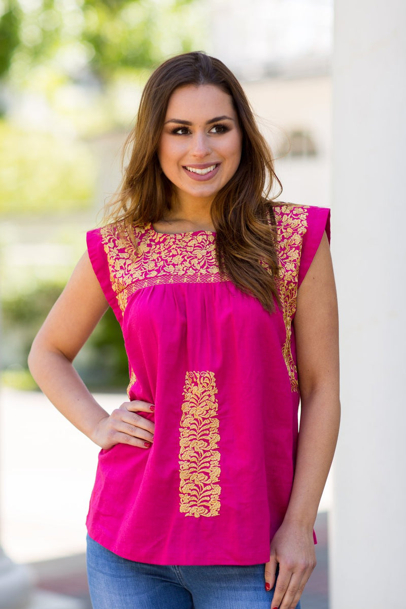 The Michelle Top- Hot Pink