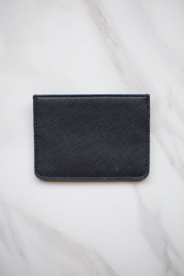 Four Fold Wallet- Black