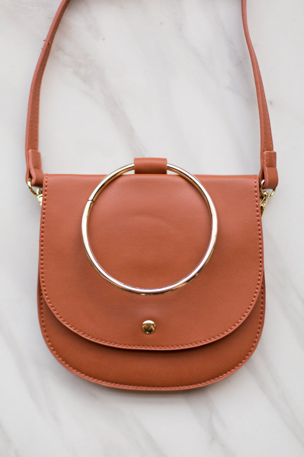 Put A Ring On It Purse- Brown