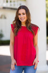 The Reina Top- Red