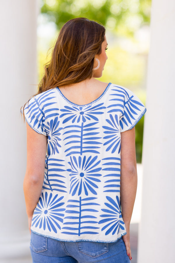 The Ava Top- Blue