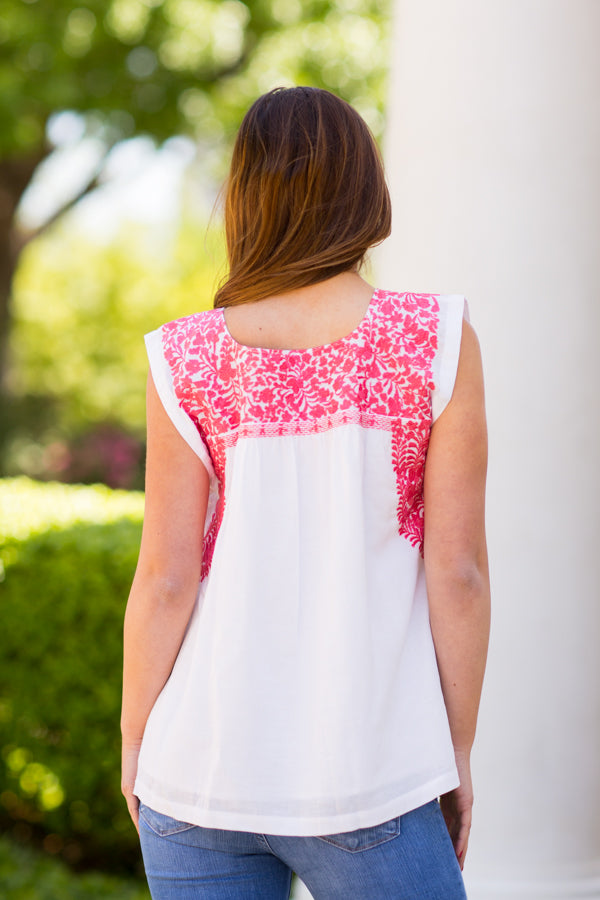 The Whitney Top- Coral