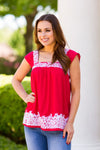 The Ariana Top- Red