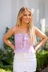 Rodeo Drive Crop Top- Lilac