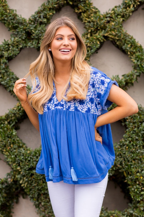 The Bre Top - Royal Blue