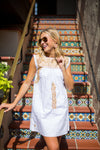 The Pamela Dress- White & Gold