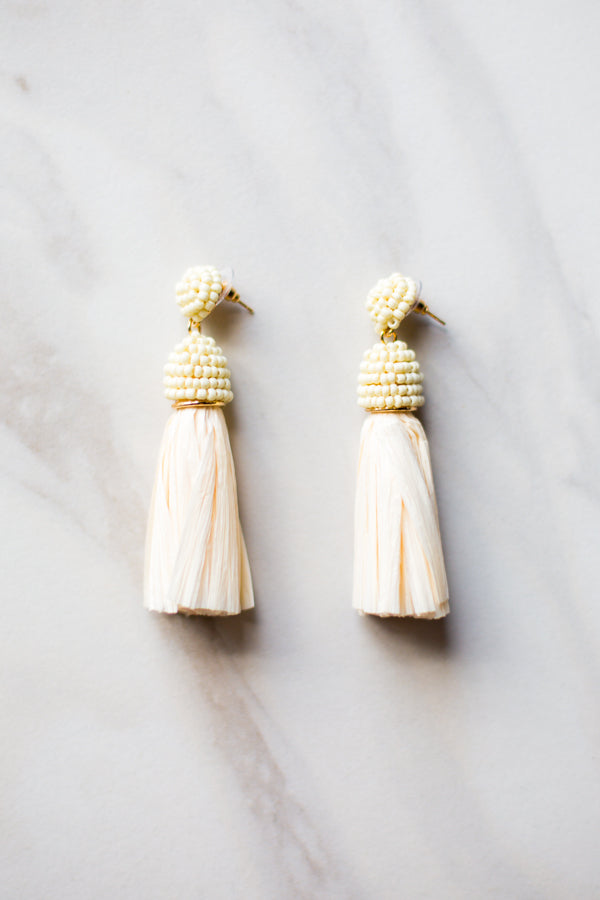 Cream Callie Earrings
