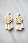 Jolie Tassel Earrings - Cream