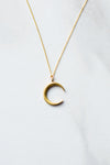 Gold Crescent Necklace