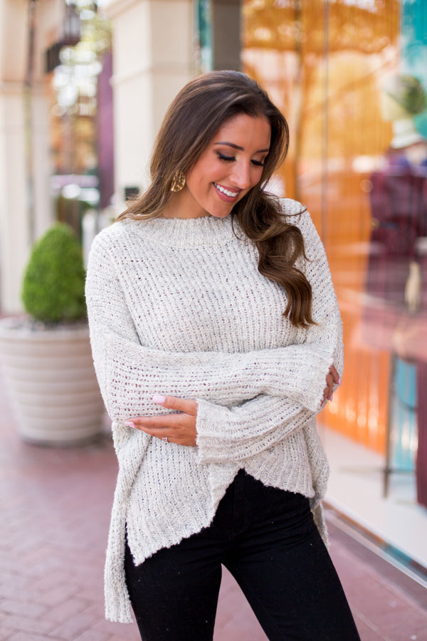 On The Way Sweater - Oatmeal