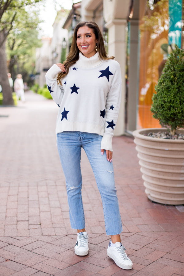 How Bout Them Cowboys Sweater - White