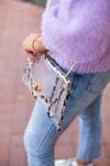 Clear Envelope Stadium Bag- Leopard