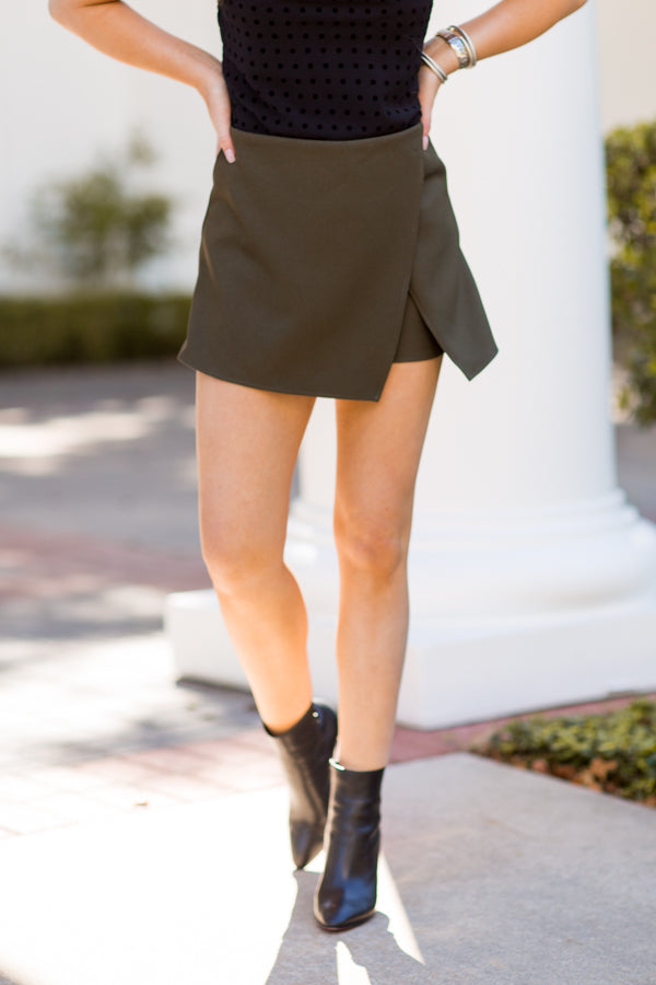 On The Vine Skort - Olive