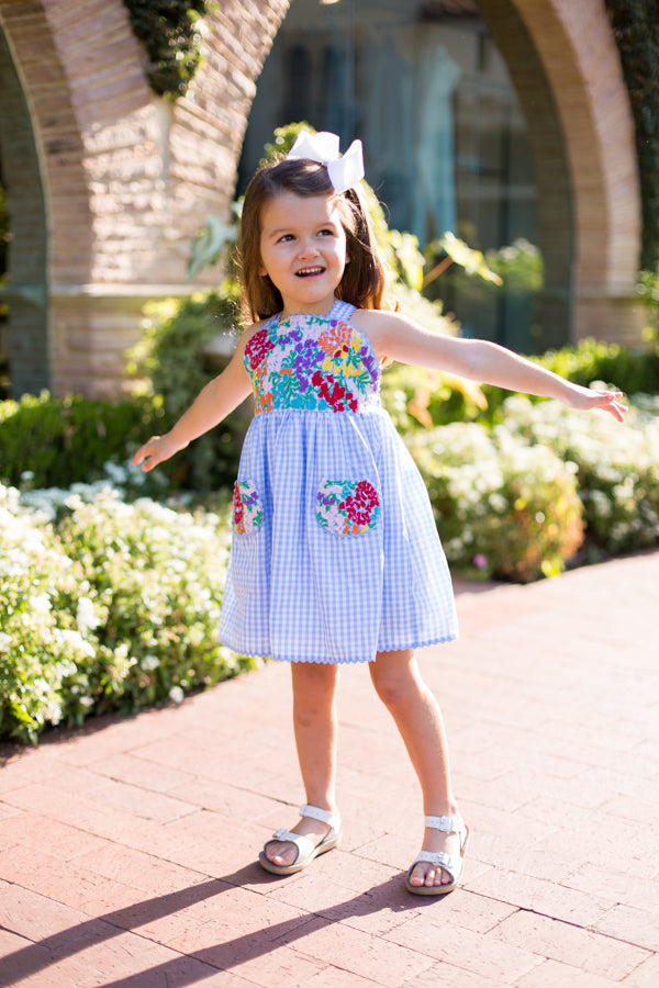 The Sophie Baby Dress - Light Blue