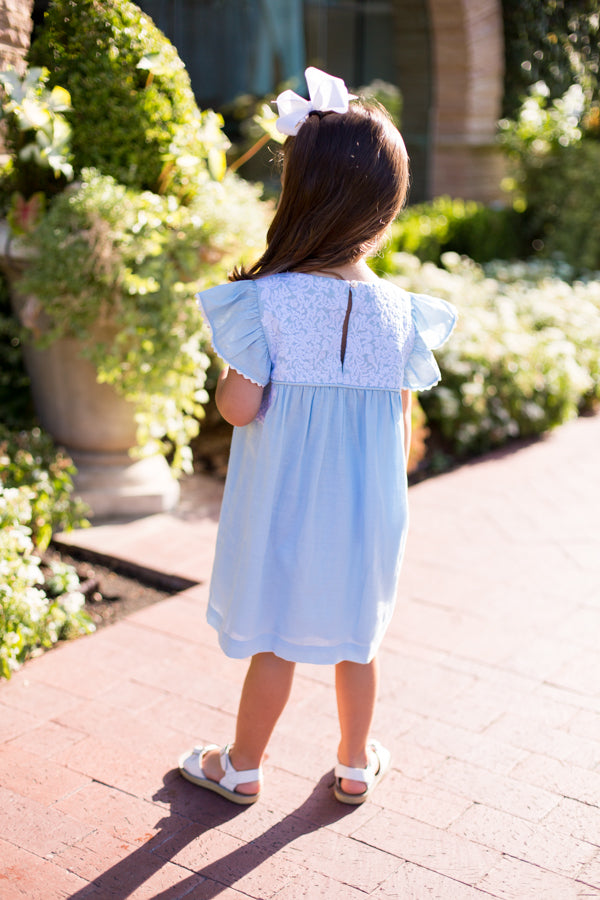 The Mary Baby Dress - Light Blue