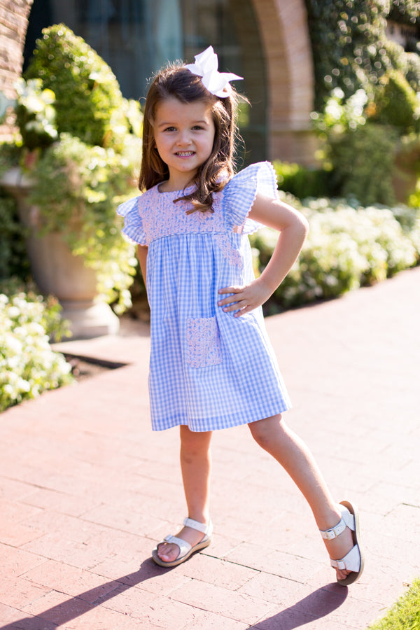 The Clara Baby Dress - Blue