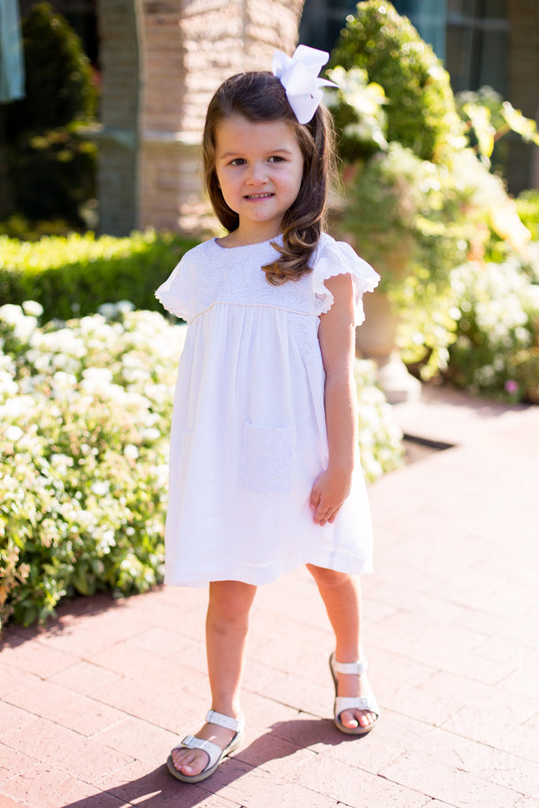 The Mona Baby Dress - White