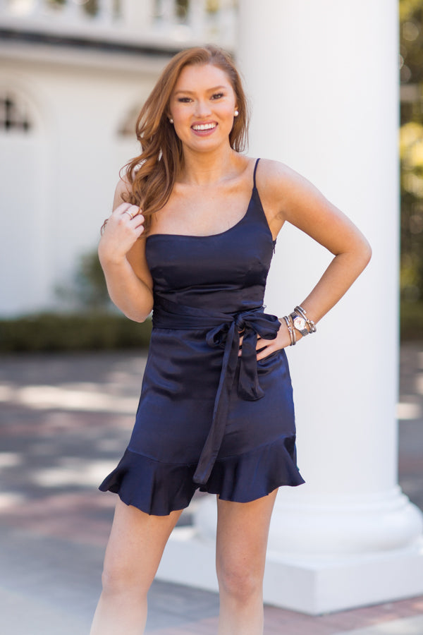 On My Side Dress - Navy