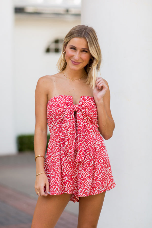 Carry On Romper- Red